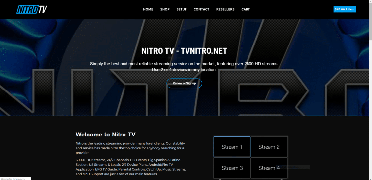 nitro tv iptv service