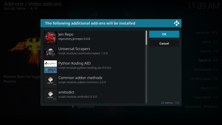"When prompted with ""The following additional add-ons will be installed"" message click OK"