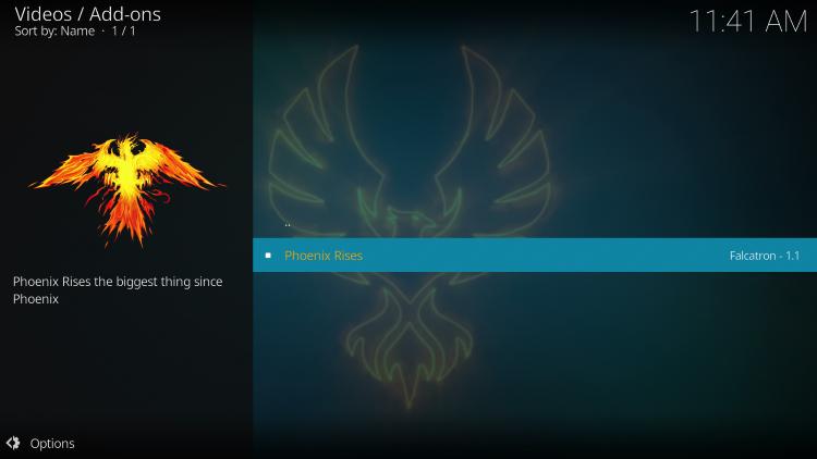 Click Phoenix Rises.