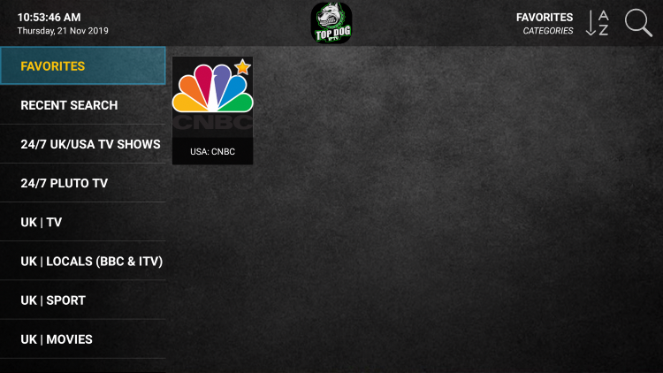 Click the Favorites menu option, and you will notice your selected channel is now located within your Favorites.