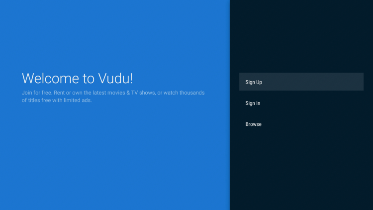 That's it! The Vudu app is now successfully installed on your Fire TV device.