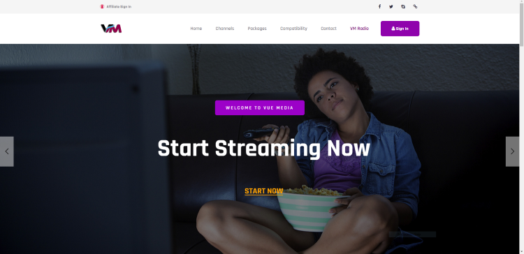vue media home page