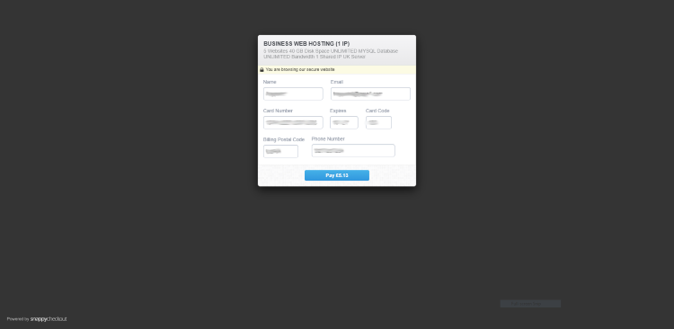 Fill out the required billing information
