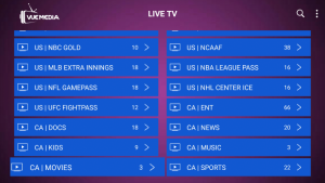 vue media iptv live tv categories