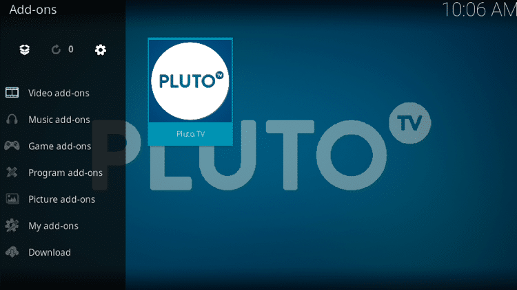 Step 10 - Pluto TV Kodi Add-on Installation Guide