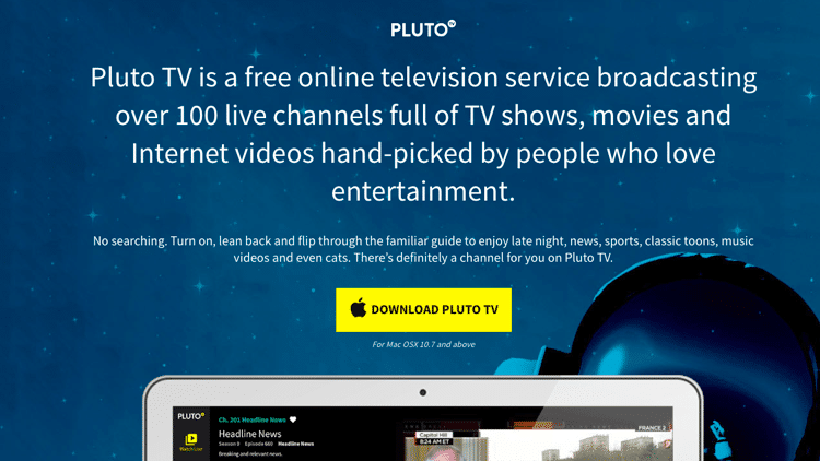 Step 2 - Using Pluto TV on Desktop v1