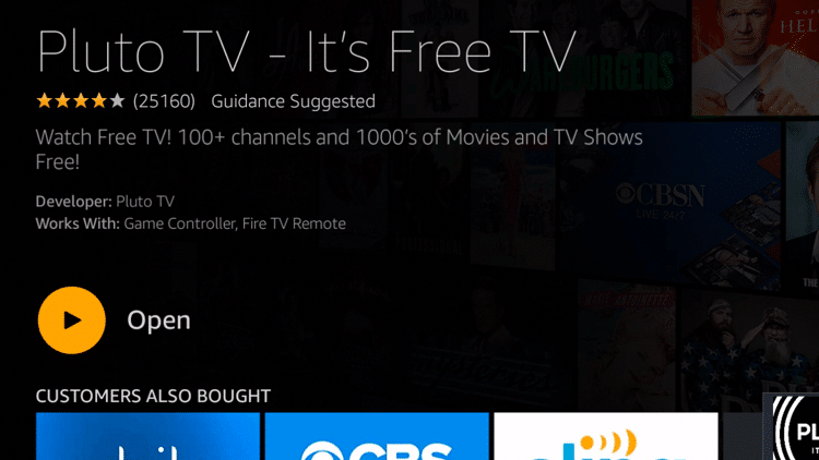 Step 5 - Pluto TV Firestick:Fire TV Installation Guide