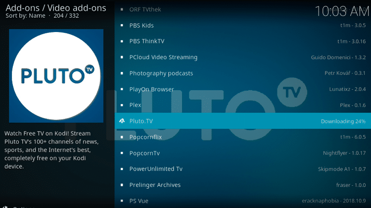 Step 8 - Pluto TV Kodi Add-on Installation Guide