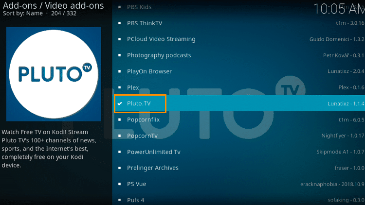 Step 9 - Pluto TV Kodi Add-on Installation Guide