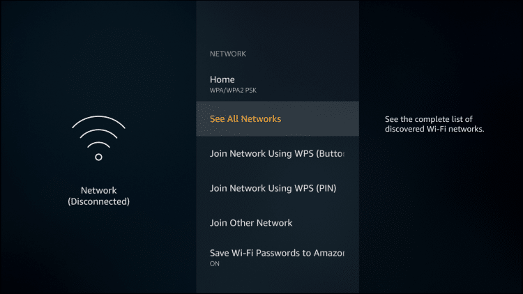 click see all networks