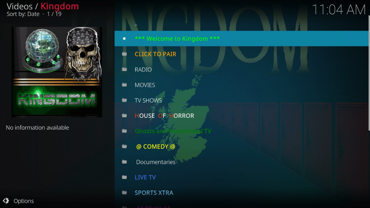 That's it! The Kingdom Kodi add-on is now successfully installed