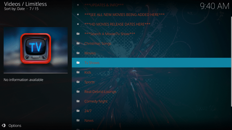 we have included Limitless in the TROYPOINT's Best Kodi Add-ons List.