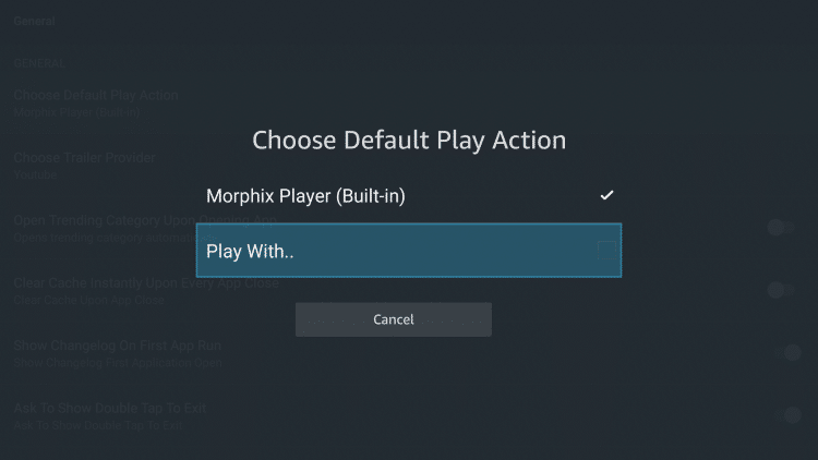 """Then select the """"Play With.."""" option."""