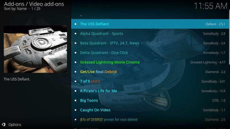 Choose The USS Defiant