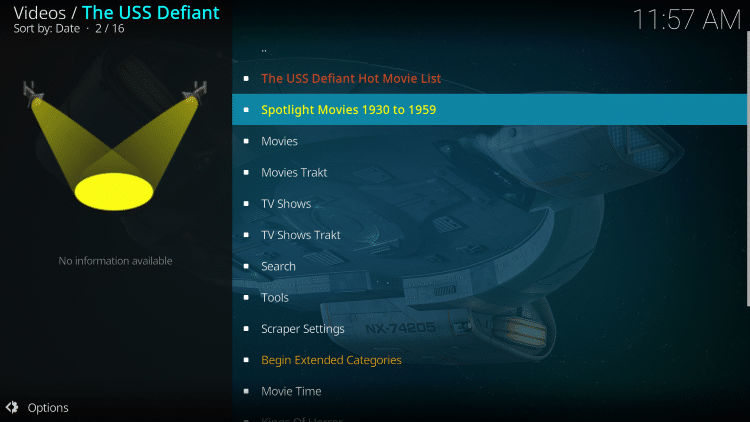 we have included The USS Defiant in the TROYPOINT's Best Kodi Add-ons List.