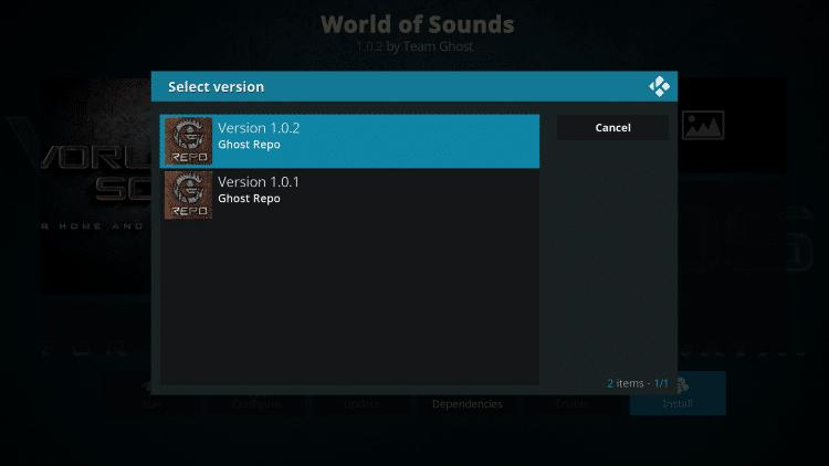 Select Ghost Repo Version 1.0.2