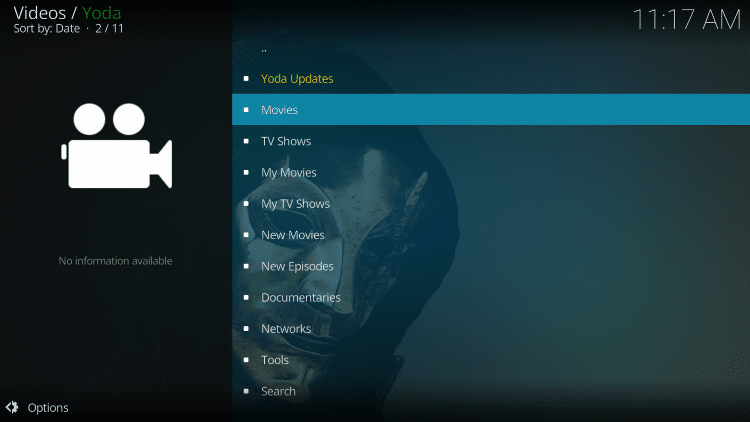 That's it! The Yoda Kodi add-on is now successfully installed