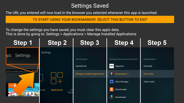 Step 11 - How to Install Bookmarker on Firestick