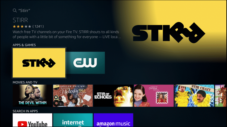 Step 2 - How to Install STIRR on Firestick