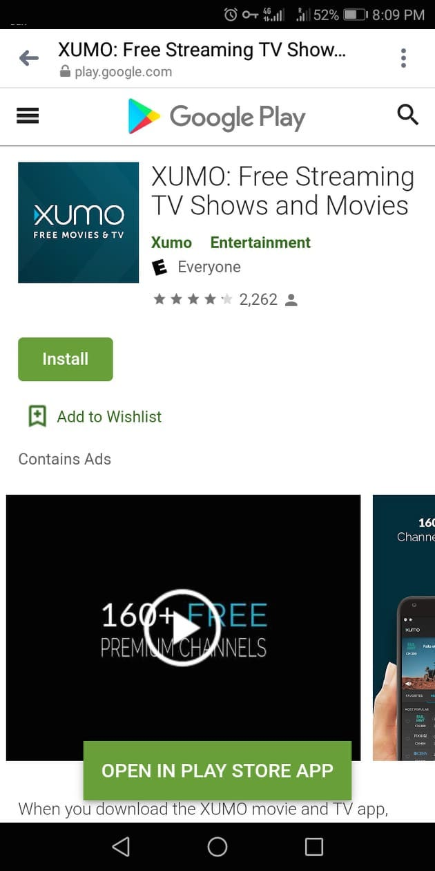 Step 2 - How to Install XUMO on an Android Device