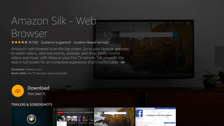 Step 5 - How to Install Amazon Silk - Web Browser