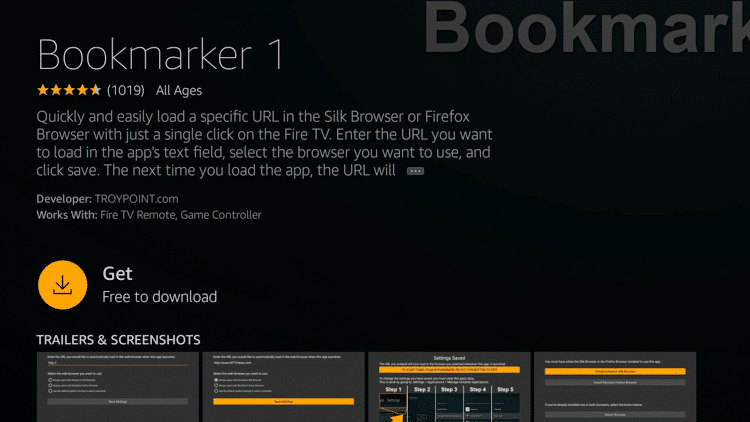 Step 5 - How to Install Bookmarker on Firestick