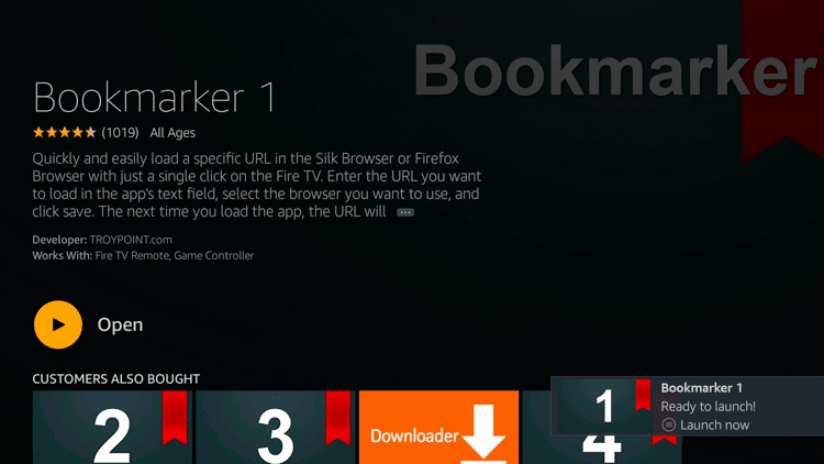 Step 7 - How to Install Bookmarker on Firestick