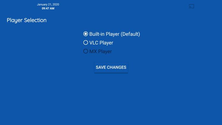 Select MX Player.