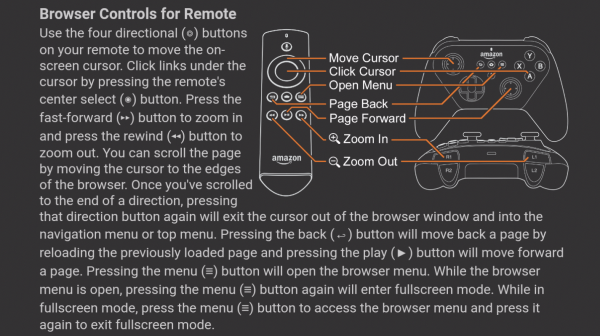 browser controls for remote