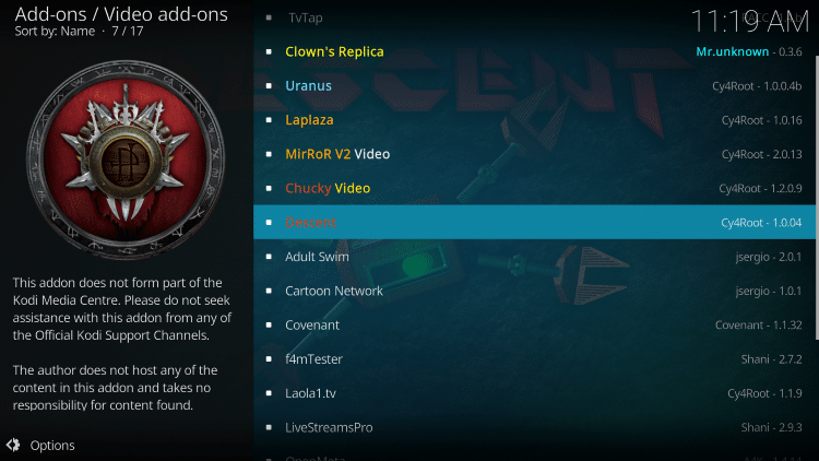 we have included Descent in the TROYPOINT's Best Kodi Add-ons List.