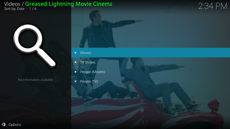 Select whichever option you prefer. For this example we chose Movies.