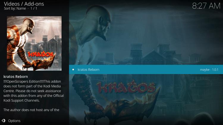 Click Kratos Reborn