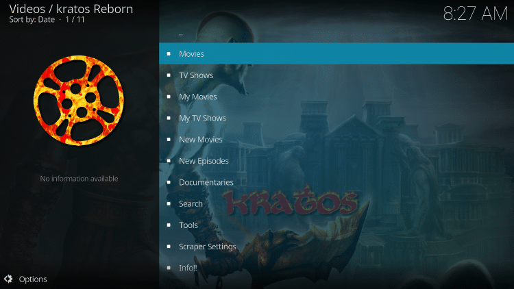 That's it! The Kratos Reborn Kodi add-on is now successfully installed