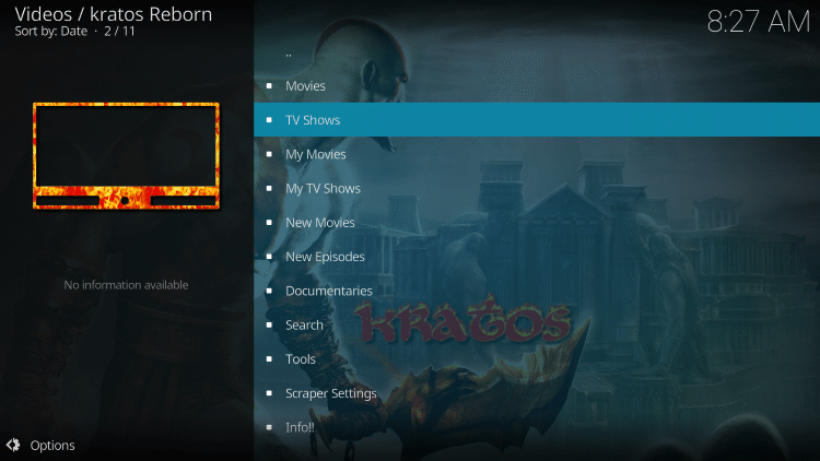 we have included Kratos Reborn in the TROYPOINT's Best Kodi Add-ons List.