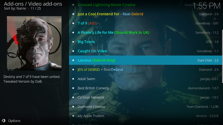 we have included Locutus in the TROYPOINT's Best Kodi Add-ons List.