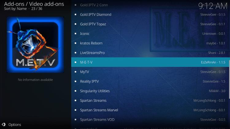 Choose METV