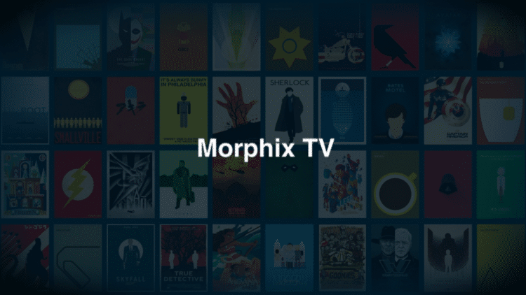 Launch Morphix TV and wait a few seconds for the application to open.