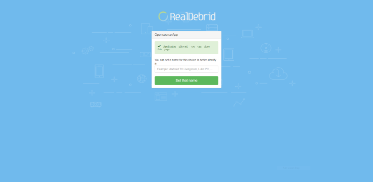 Your Real-Debrid application is now approved!