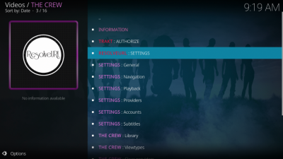 kodi addon settings