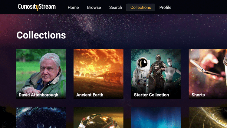 CuriousityStream - Collections