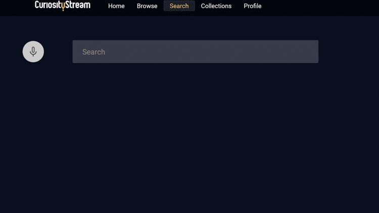 CuriousityStream - Search
