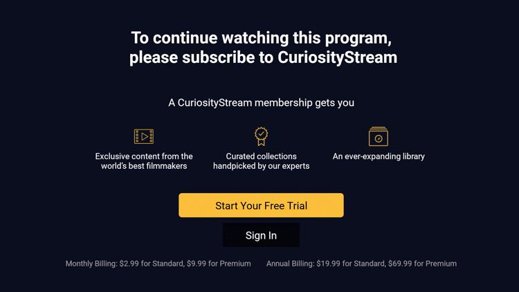Step 11b - How to Install CuriosityStream on Firestick:Fire TV