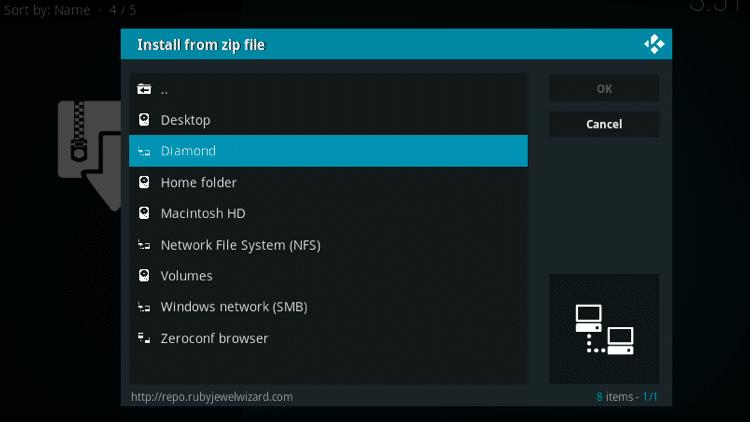 Step 17 - How to Install 7of9 Swift StreamZ Kodi Addon