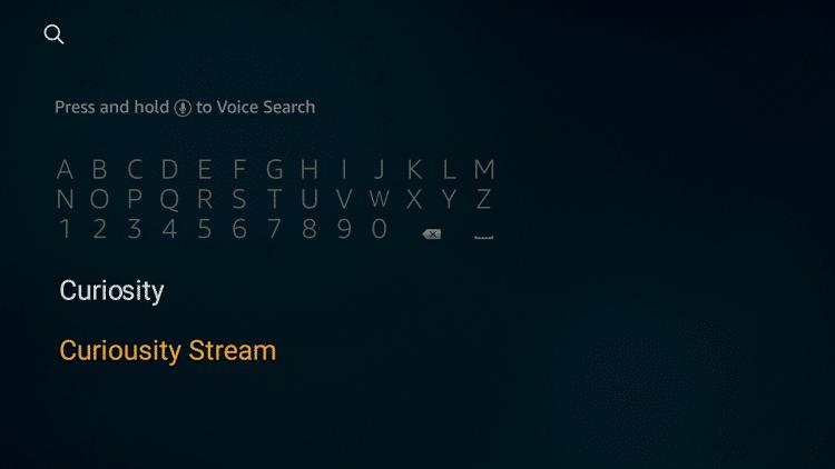 Step 2 - How to Install CuriosityStream on Firestick:Fire TV