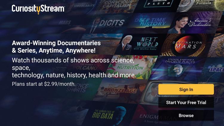 Step 7 - How to Install CuriosityStream on Firestick:Fire TV