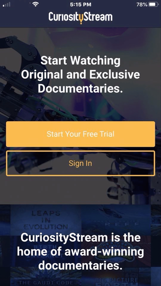 Step 7 - How to Install CuriosityStream on iOS