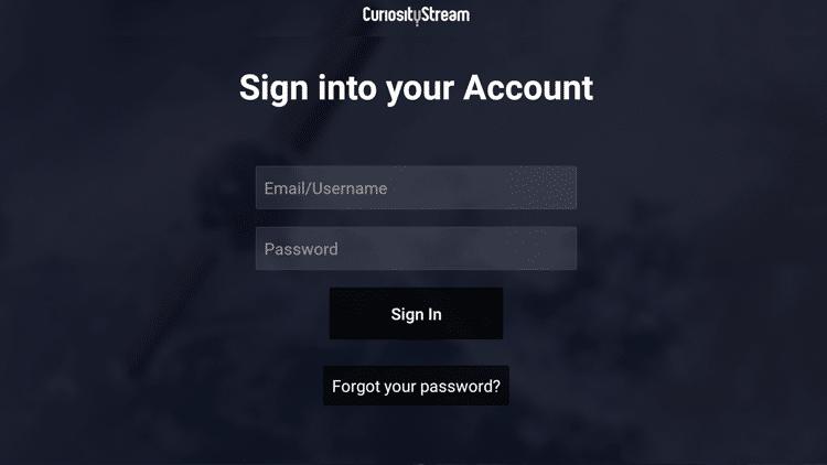 Step 8 - How to Install CuriosityStream on Firestick:Fire TV