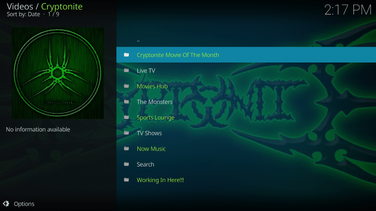 For these reasons and more we have included Cryptonite in the TROYPOINT's Best Kodi Add-ons List.