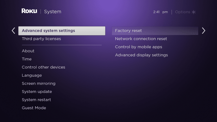 Next scroll down and click Advanced system settings.