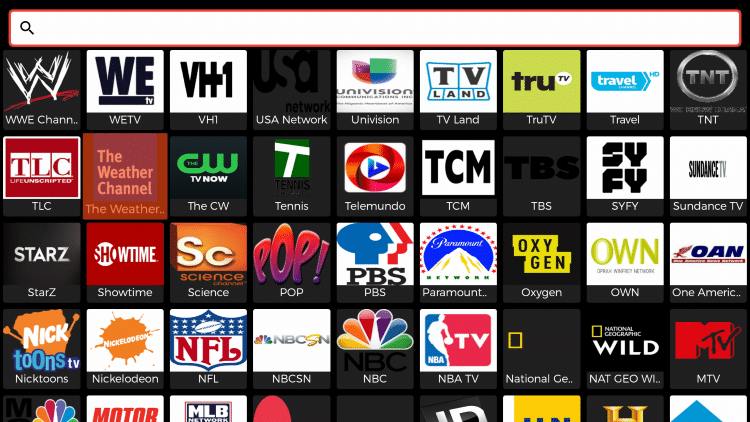 Hover over and select your preferred channel.